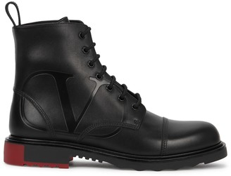 Valentino VLogo black leather boots