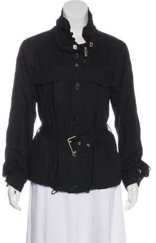 Michael Kors Belted Zip-Up Jacket