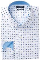Tailorbyrd Print Trim Fit Dress Shirt