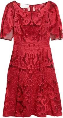 Alberta Ferretti Fil Coupe Organza Dress