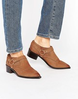 Office Firecracker Tan Leather Western Shoe Boots
