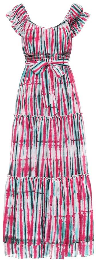 Diane von Furstenberg Lexie tie-dye cotton-blend maxi dress