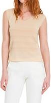 Max Studio Rayon & Nylon Knitted Sleeveless Shell
