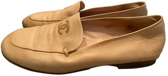Chanel Beige Leather Flats