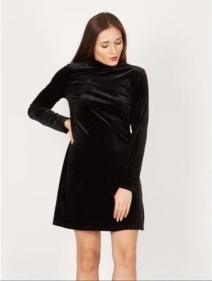 M&Co Izabel velour swing dress