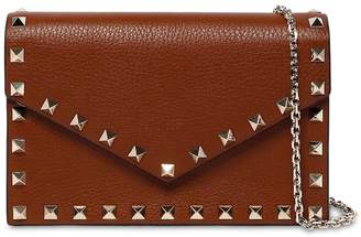 Valentino Rockstuds Leather Envelop Shoulder Bag