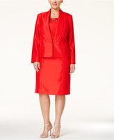 Kasper Plus Size Evening Jacket & Beaded Sheath Dress Suit