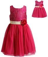 Dollie & Me Girls 4-14 Lace & Mesh Dress Set