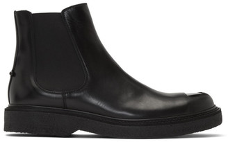 Neil Barrett Black Metal Toe Chelsea Boots
