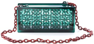 Vitro Atelier Roksana Clutch In Emerald Green