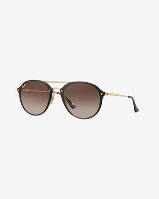 Express Ray-Ban Blaze Double Bridge Oval Sunglasses