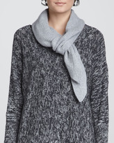Eileen Fisher Plaited Cashmere Textured Scarf, Moon
