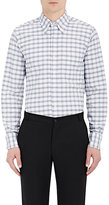 Thom Browne Men's Checked Oxford Cloth Shirt-GREY