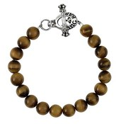King Baby Studio Men's Tiger's Eye Bead Bracelet