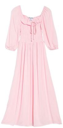 Cotton Emporium Quarter Sleeve Peasant Dress