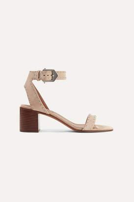 Givenchy Elegant Studded Suede Sandals - Beige