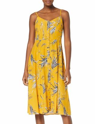 Warehouse Women's Summer Rushes Button Front Cami Midi Dress