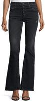 Hudson Jodi High-Waist Raw-Hem Flare-Leg Jeans
