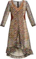 Marco De Vincenzo Multicoloured leopard-print silk-georgette dress
