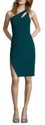 Xscape Evenings One-Shoulder Side-Slit Sheath Dress