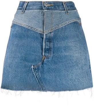 RE/DONE A-line denim skirt