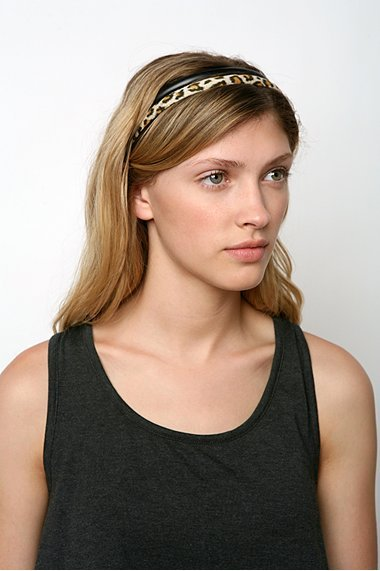 Urban Outfitters Set of 2 Animal and Leather Headband