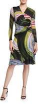 Diane von Furstenberg Sathita Long-Sleeve Faux-Wrap Dress