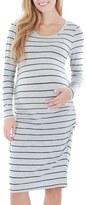 Everly Grey 'Hanh' Maternity T-Shirt Dress