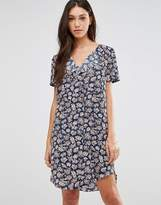 Traffic People Stitch Dress In Illustrated Floral Print