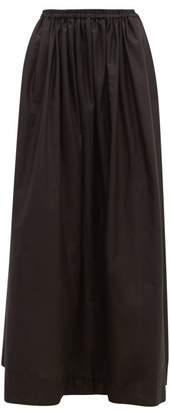 Matteau - The Gathered Cotton Maxi Skirt - Womens - Black