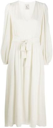 L'Autre Chose plisse tie-waist dress