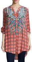 Tolani Chloe Long Floral-Print Tunic, Plus Size