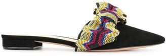 Alexandre Birman striped detail mules