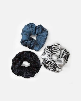 Express Pocket Square Clothing Animal Print Scrunchie Set