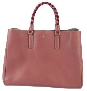 Anya Hindmarch Side Smiley Maxi Featherweight Ebury Tote