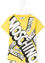 Moschino Kids - logo print T-shirt - kids - Cotton - 8 yrs