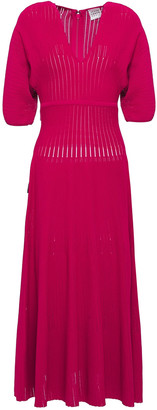 Herve Leger Ribbed-knit Midi Dress