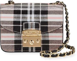Mario Valentino Valentino By Bijou Plaid-Printed Leather Crossbody Bag