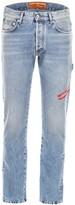 Heron Preston Logo Embroidered Straight-Leg Jeans