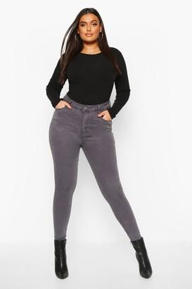 boohoo Plus 5 Pocket Stretch High Waist Skinny Jeans
