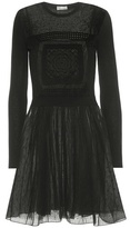 RED Valentino Embroidered Wool And Tulle Dress