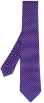 Kiton pink and white spot tie