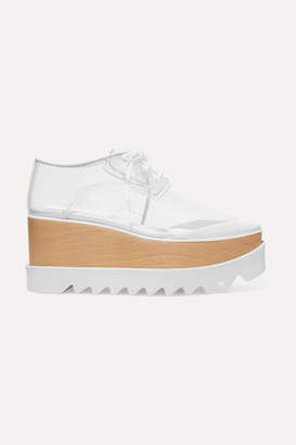Stella McCartney Elyse Pu And Faux Leather Platform Brogues - White