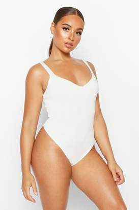 boohoo Premium Knitted Cupped Bodysuit