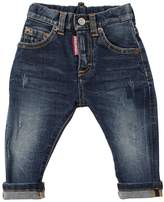 DSQUARED2 Stone Washed Cotton Denim Jeans