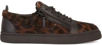 Giuseppe Zanotti Leopard Print Lace-Up Sneakers