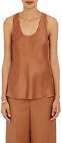 Helmut Lang Women's Gathered-Side Satin Tank-DARK BROWN