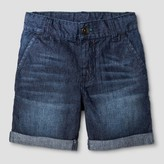 Cat & Jack Toddler Boys' Slim Trouser Shorts Dark Wash