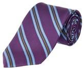 Brooks Brothers Purple Striped Houndscheck Silk Tie.