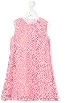Dolce & Gabbana floral lace dress - kids - Cotton/Polyamide/Viscose - 10 yrs